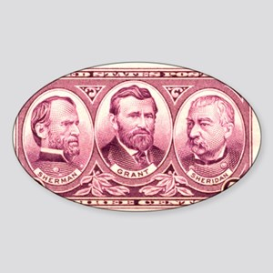 Gen's Sherman, US Grant and P Oval Sticker
